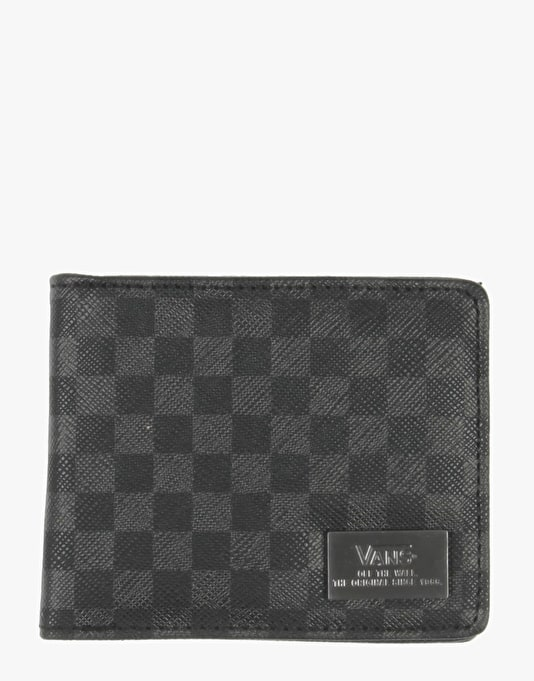 Vans Checked Bi-Fold Wallet - Black
