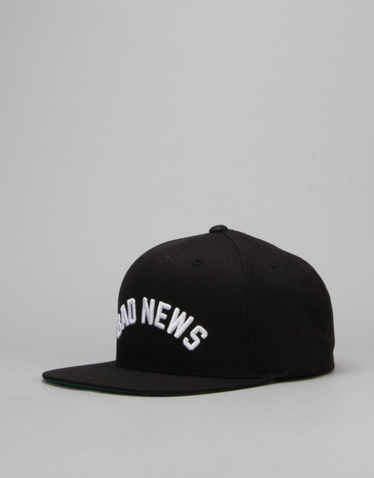 Grizzly Bad News Snapback Cap - Black