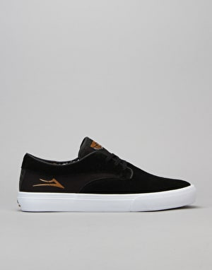 Lakai Riley Hawk Skate Shoes - Black Suede