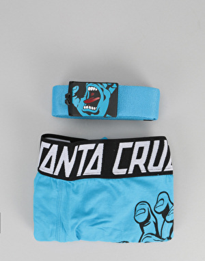 Santa Cruz Screaming Hand Boxers & Belt Gift Set - Blue
