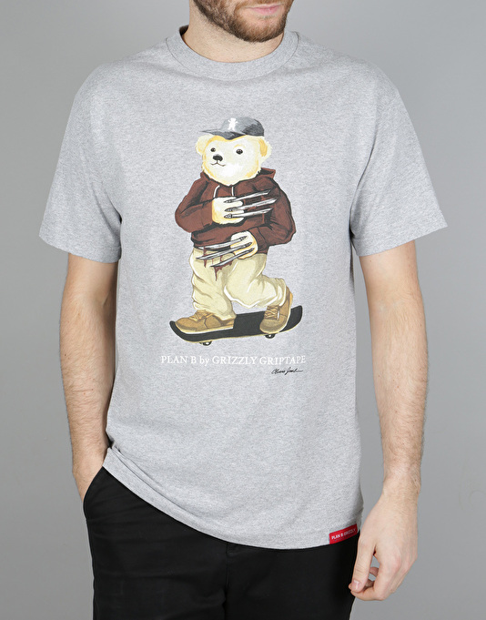 Grizzly Joslin Bear T-Shirt - Heather Grey