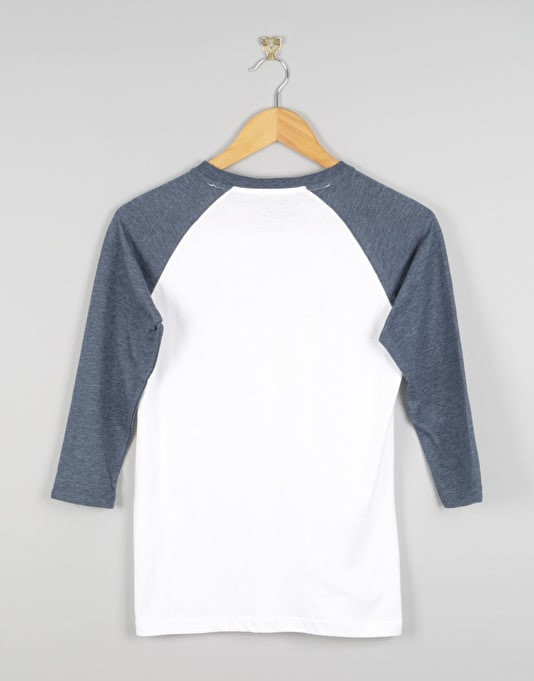 Vans Classic Raglan Boys T-Shirt - White/Heather Navy