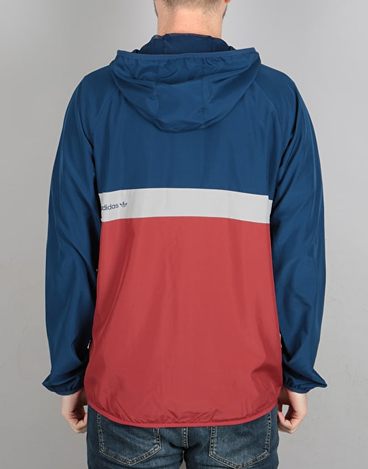 Adidas BB Wind Jacket - Mystery Blue/Mystery Red Mgh Solid Grey