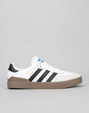 Adidas Busenitz Vulc Samba Skate Shoes - White/Core Black/Bluebird