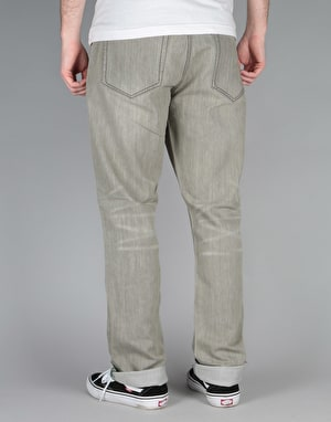 Route One Slim Denim Jeans - Old Washed Grey