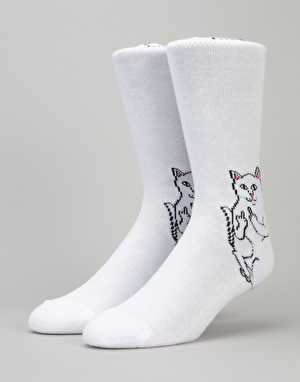 RIPNDIP Lord Nermal Socks - White