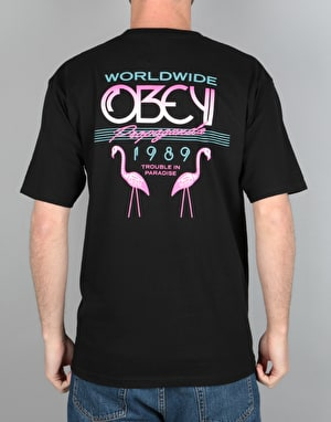 Obey Trouble In Paradise T-Shirt - Black