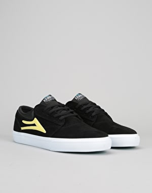 Lakai x Krooked Griffin Skate Shoes - Black/Yellow Suede