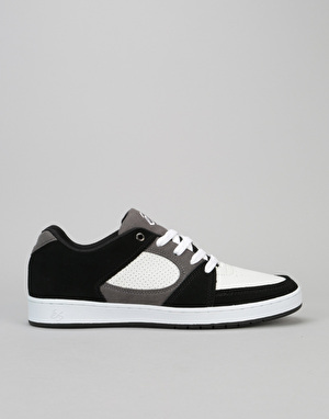 éS Accel Slim Skate Shoes - Black/White/Grey