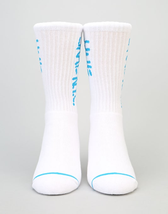 HUF x Skate NYC Crew Socks - White