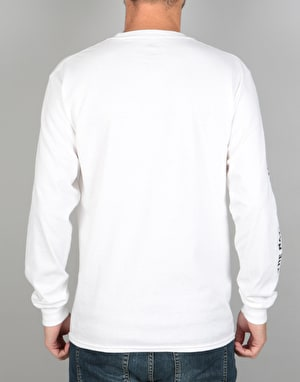 The National Skateboard Co. x Ben Horton L/S T-Shirt - White