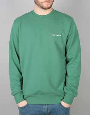 Carhartt Script Embroidery Sweat - Mojito White