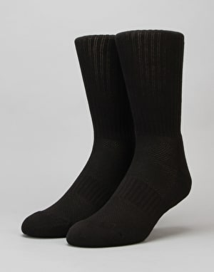 HUF Performance Bar Logo Crew Socks - Black