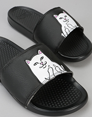 RIPNDIP Lord Nermal Sliders - Black
