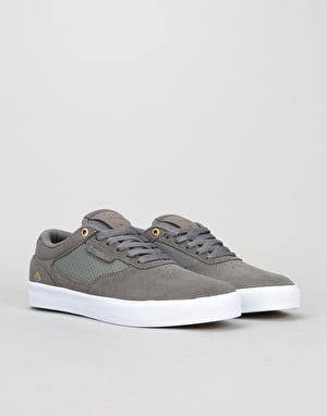 Emerica Empire G6 Low Vulc Skate Shoes - Grey/White