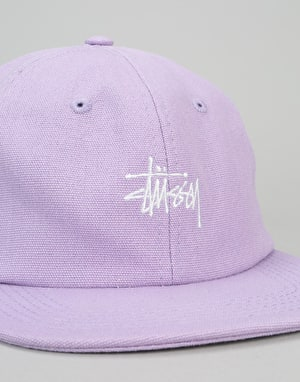 Stüssy Smooth Stock Canvas Snapback Cap - Lavender