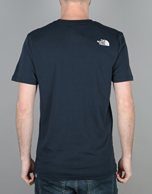 The North Face S/S Simple Dome T-Shirt - Urban Navy/White Novelty