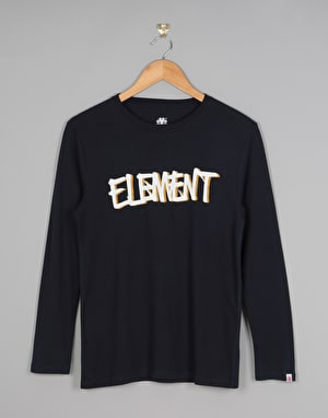 Element Word Longsleeve Boys T-Shirt - Eclipse Navy