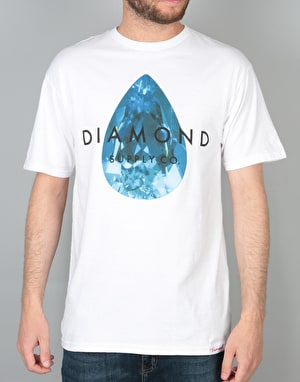 Diamond Supply Co. Teardrop T-Shirt - White/Blue