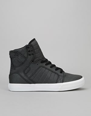 Supra Skytop Skate Shoes - Black Fiberglass-White