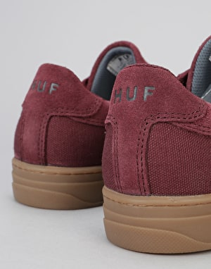 HUF Soto Skate Shoes - Oxblood/Grey