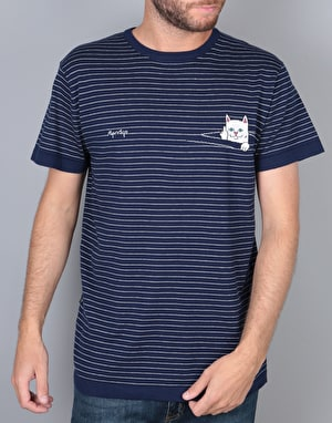 RIPNDIP Peeking Nermal T-Shirt - Navy Stripe