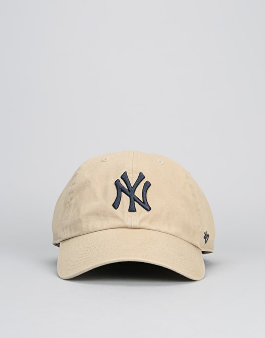 '47 Brand MLB New York Yankees Relaxed Clean Up Cap - Khaki