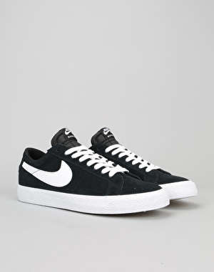 Nike SB Blazer Low Skate Shoes - Black/White-Gum Light Brown