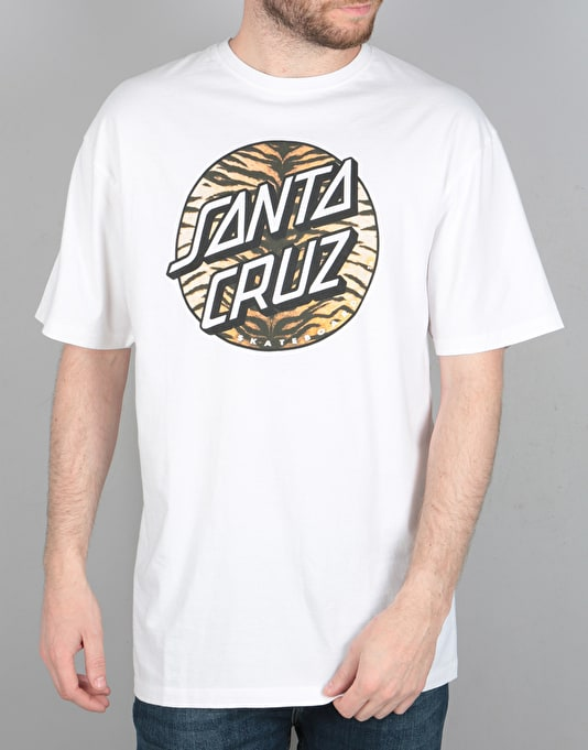 Santa Cruz Tiger Dot T-Shirt - White