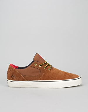 éS Accel SQ Skate Shoes - Brown/Tan