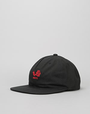 Obey Flower 6 Panel Cap - Black