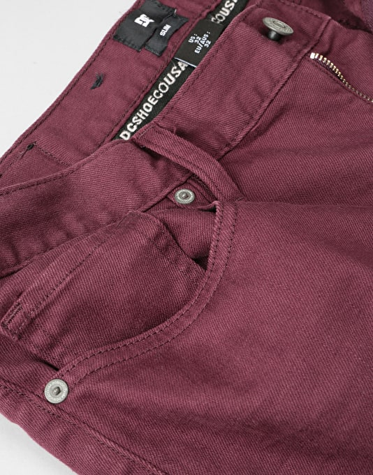 DC Colour Slim Fit Jeans - Winetasting