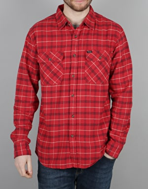 Brixton Bowery LS Flannel Shirt - Red/Black Combo