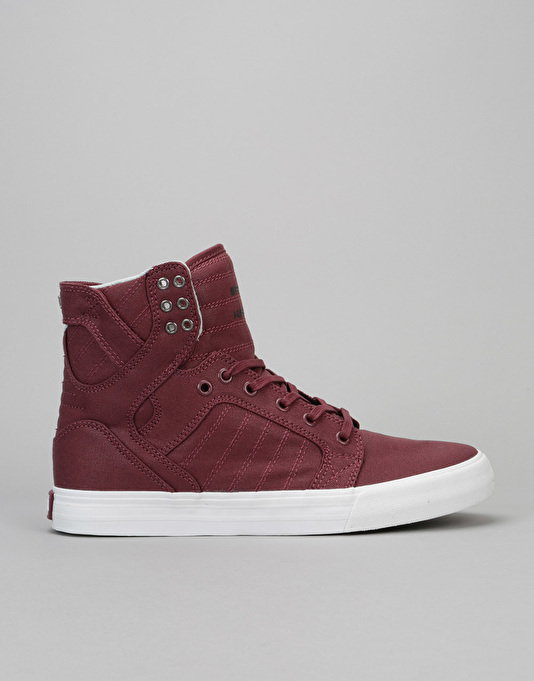 574a5e2d3001 Supra Skytop Skate Shoes - Burgundy-White