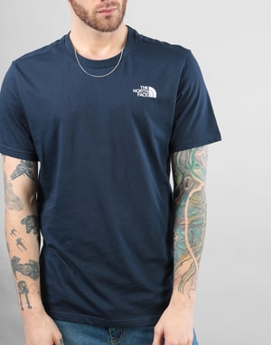 The North Face S/S Simple Dome T-Shirt - Urban Navy/TNF White