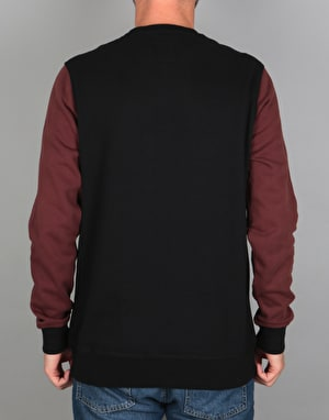 Etnies Point A Crew Sweatshirt - Black/Red