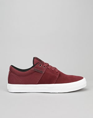 Supra Stacks II Vulc Skate Shoes - Burgundy/Black/White