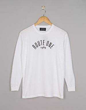 Route One Boys Logo LS T-Shirt - White