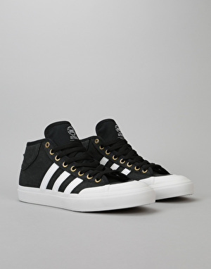 Adidas Matchcourt Mid Skate Shoes - Core Black/Crystal White/Gold Met.