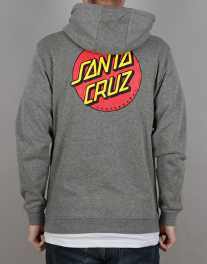 Santa Cruz Classic Dot Zip Hoodie - Dark Heather