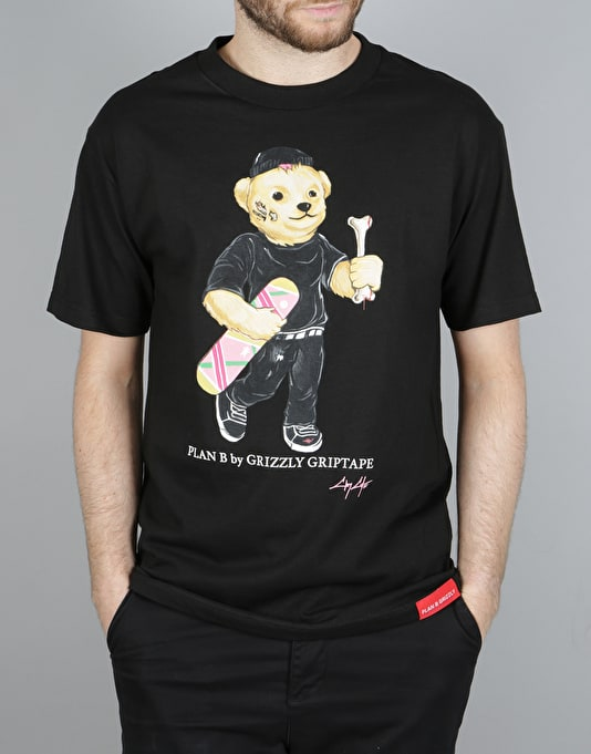 Grizzly Cobra Cole Bear T-Shirt - Black