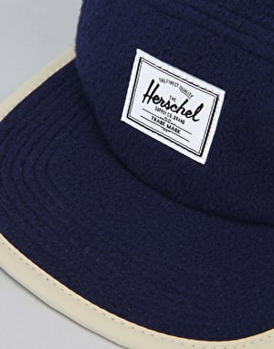 Herschel Supply Co. Glendale Polar Fleece 5 Panel Cap - Navy/Khaki