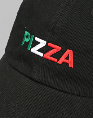 Pizza Tri-Colour Delivery Boy Cap - Black