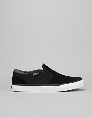 State Keys Skate Shoes - Black/Pewter Suede/Canvas
