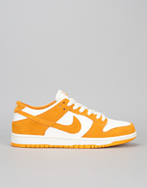 Nike SB Dunk Low Skate Shoes - Circuit Orange/Circuit Orange- Sail