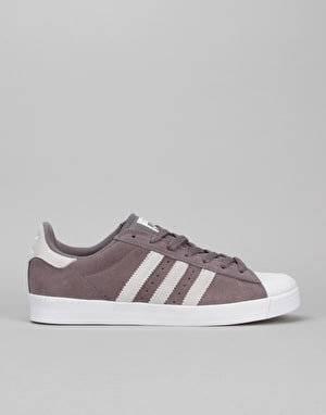 Adidas Superstar Vulc ADV Skate Shoes - Trace Grey/Solid Grey/White