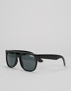 Route One Flat Top Wayfarer Sunglasses - Black