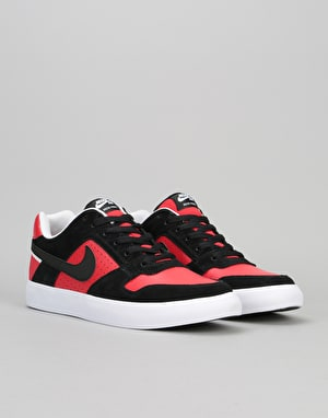 Nike SB Delta Force Vulc Skate Shoes - Black/Black/University Red