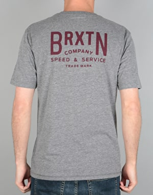 Brixton Langley Premium T-Shirt - Heather Grey
