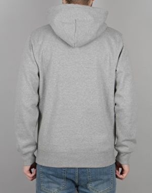Carhartt Yale Hooded Sweatshirt - Grey Heather/Navy
